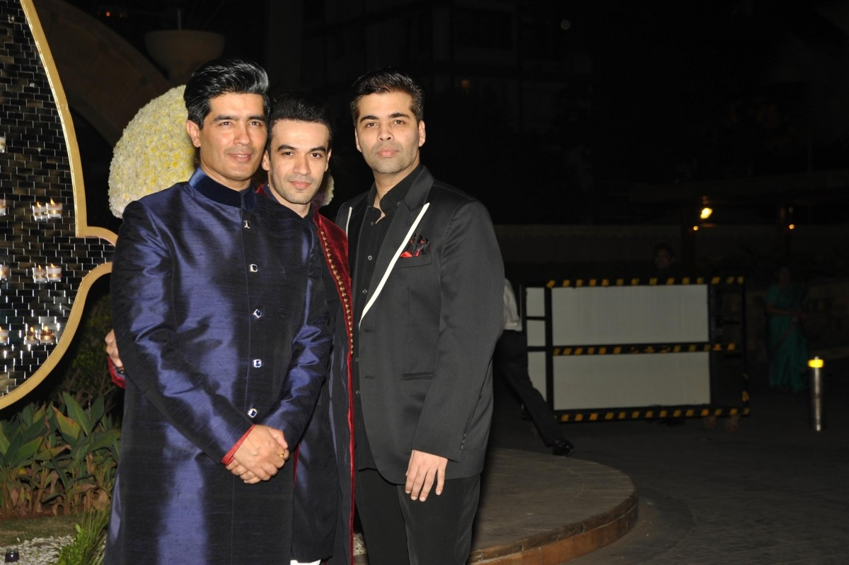Manish Malhotra, Punit Malhotra and Karan Johar