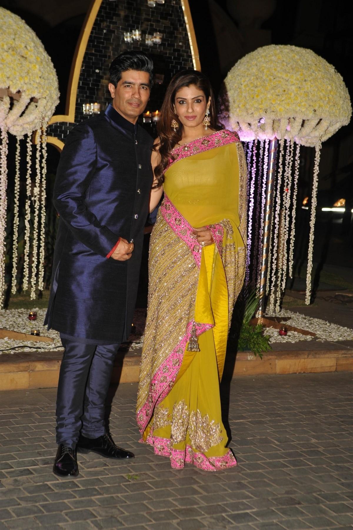 Manish Malhotra and Raveena Tandon