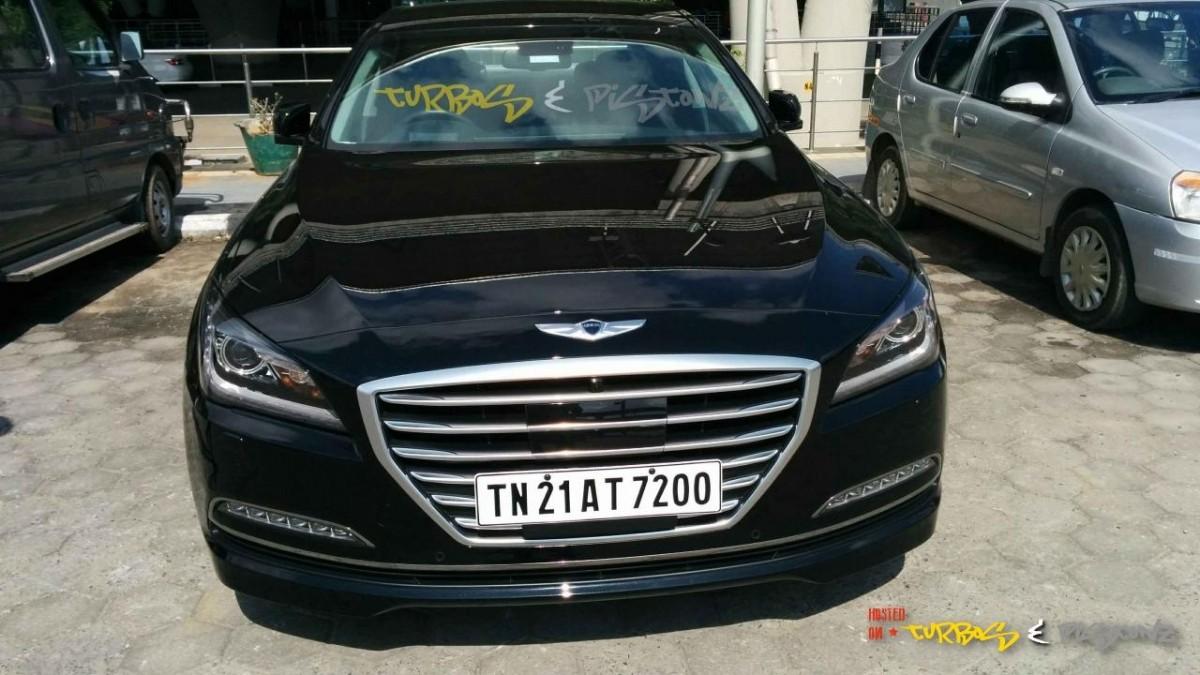 Hyundai Genesis Coming to India Spotted in Chennai PHOTOS