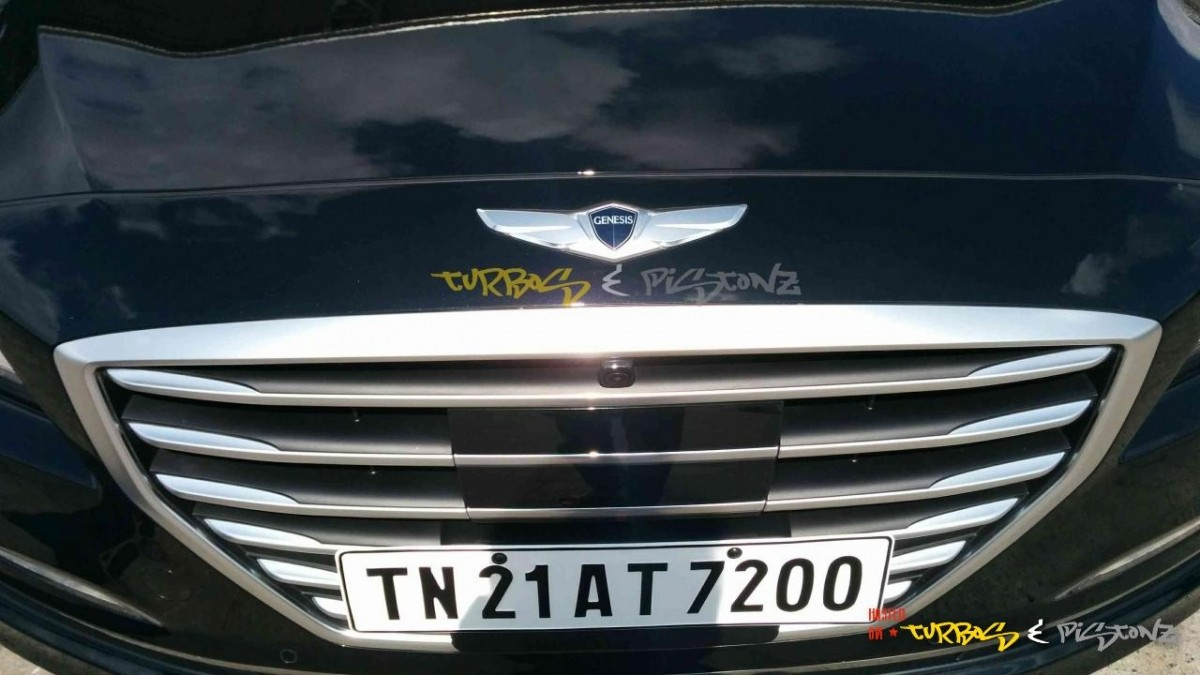 Hyundai Genesis Coming to India? Spotted in Chennai
