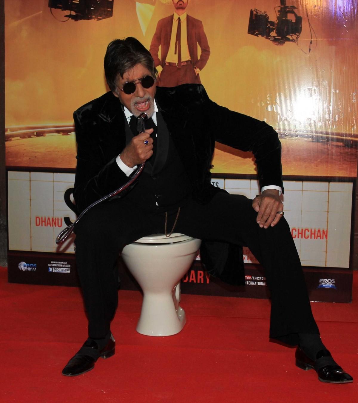 Amitabh Bachchan, Akshara, Dhanush Stuns at 'Shamitabh' Trailer Launch Event
