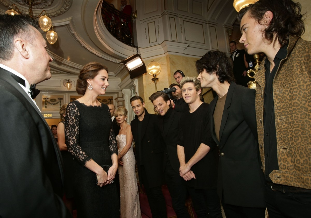 Kate Middleton with One Direction