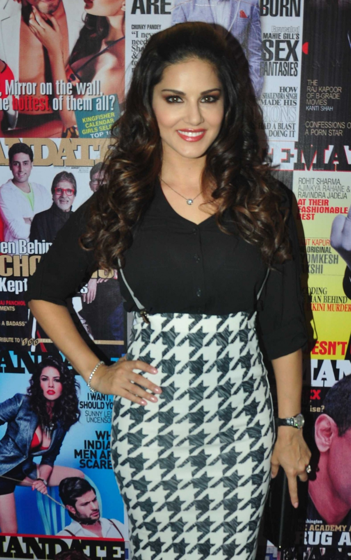 Sunny Leone Arrives at Magazine Cover Launch