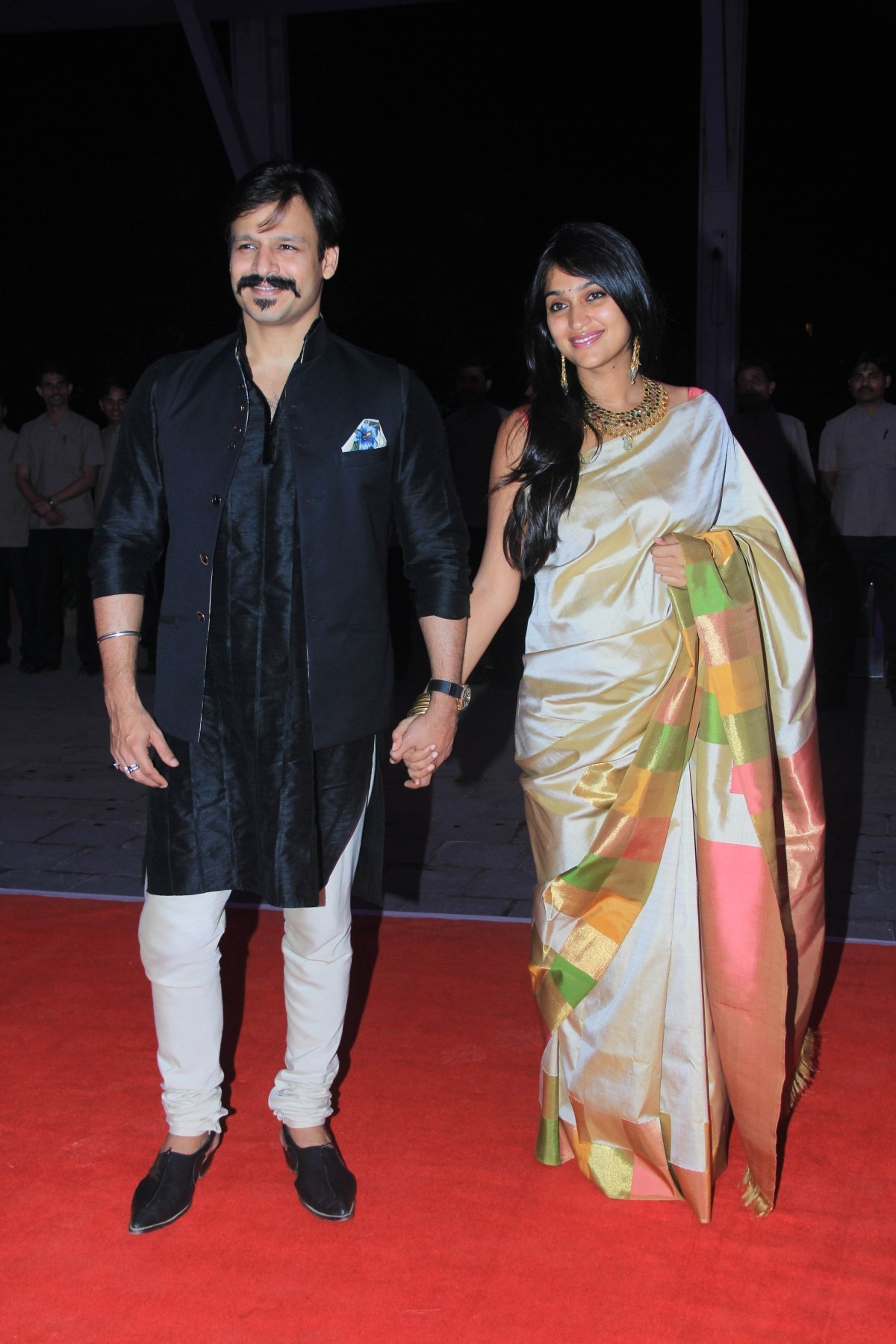 Vivek Oberoi and Priyanka Alva arrive for Kussh Sinha's reception party
