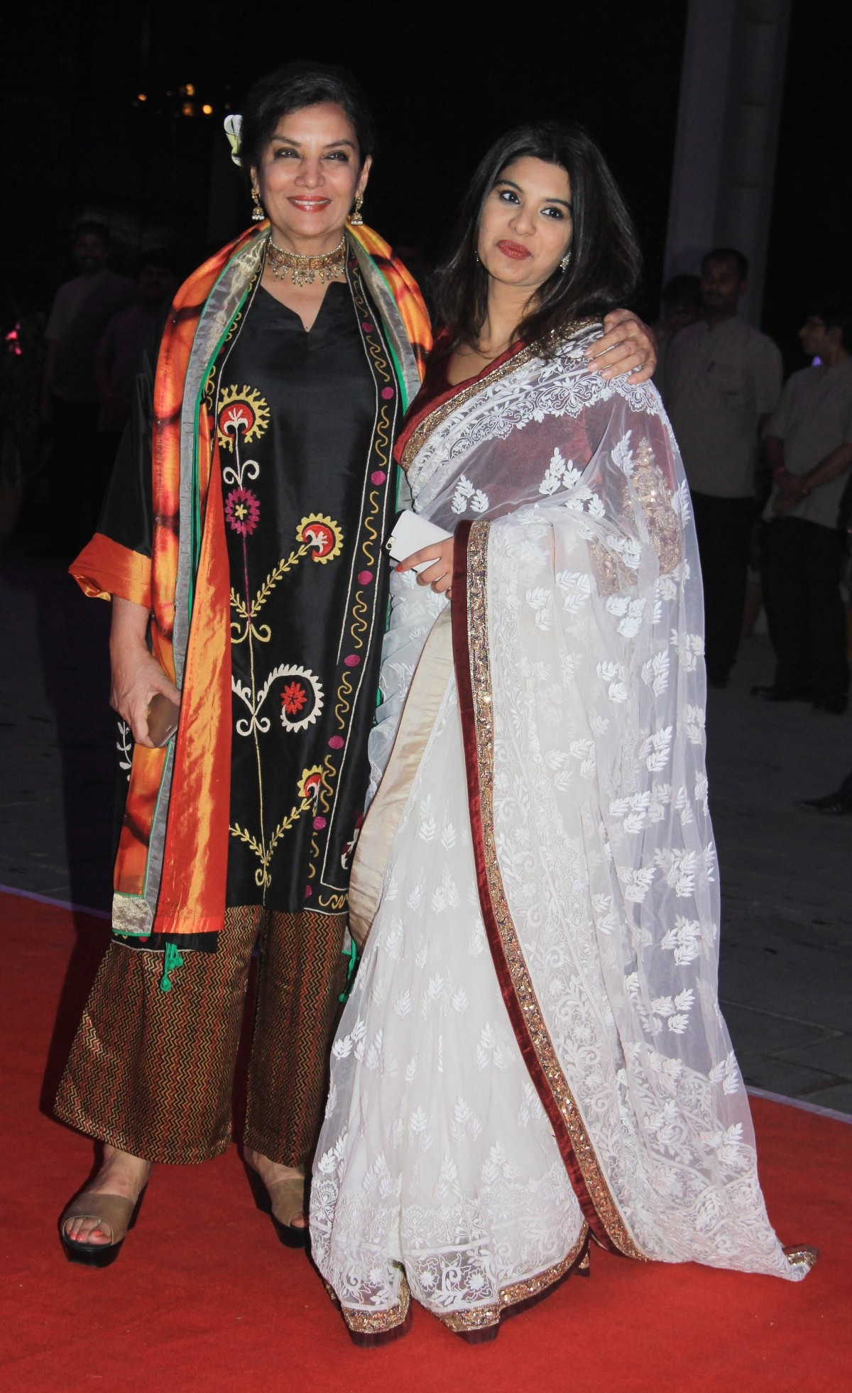 Shabana Azmi arrives for Kussh Sinha's reception party