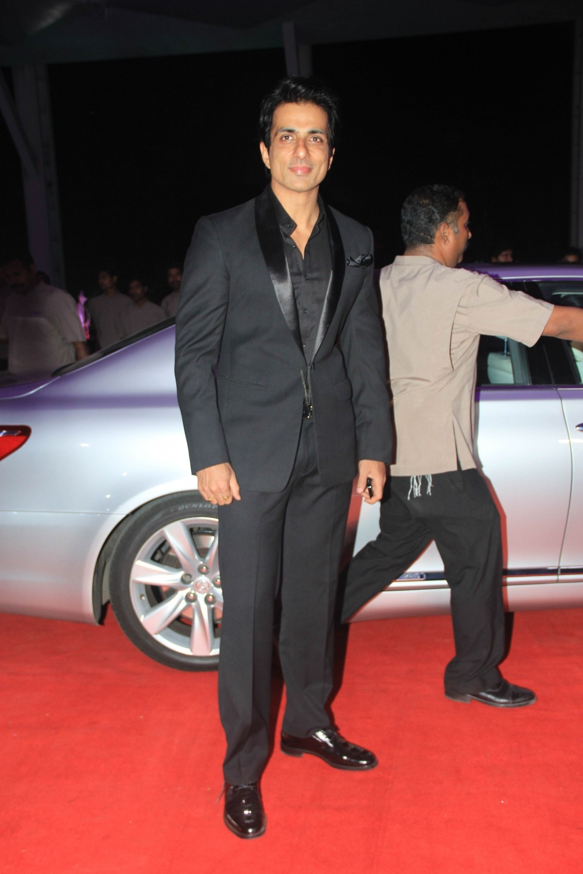 Sonu Sood arrives for Kussh Sinha's reception party