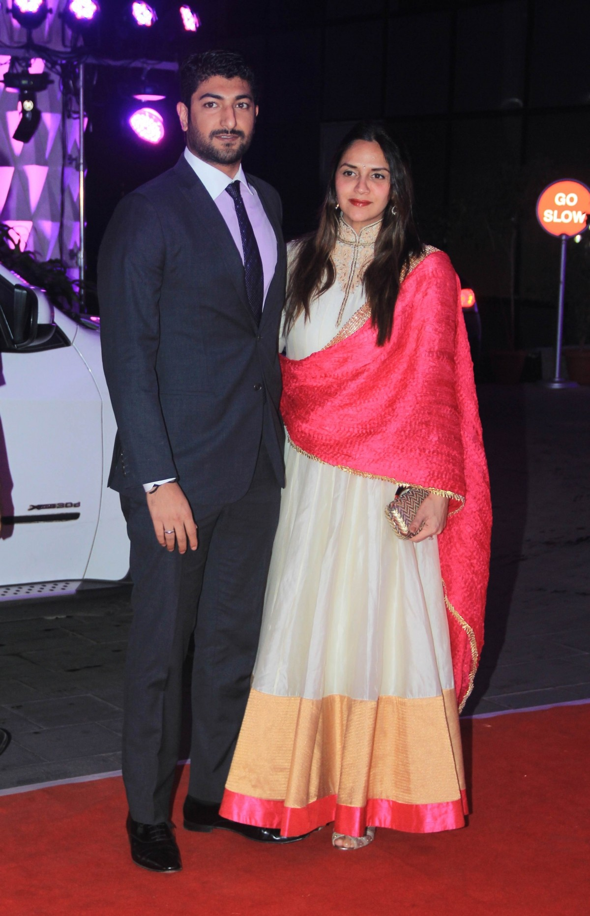 Ahana Deol with her husband arrive for Kussh Sinha's reception party