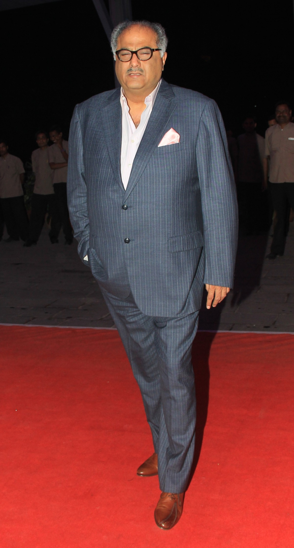 Boney Kapoor arrives for Kussh Sinha's reception party