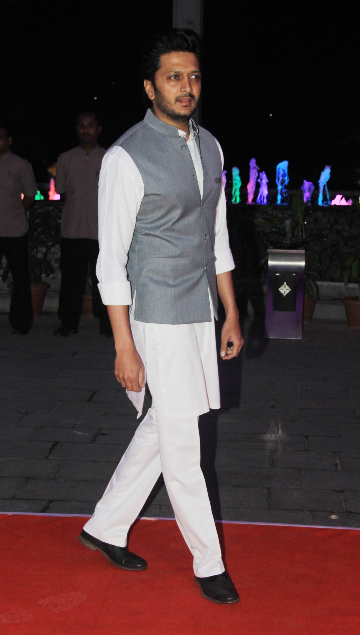 Ritiesh Deshmukh arrives for Kussh Sinha's reception party
