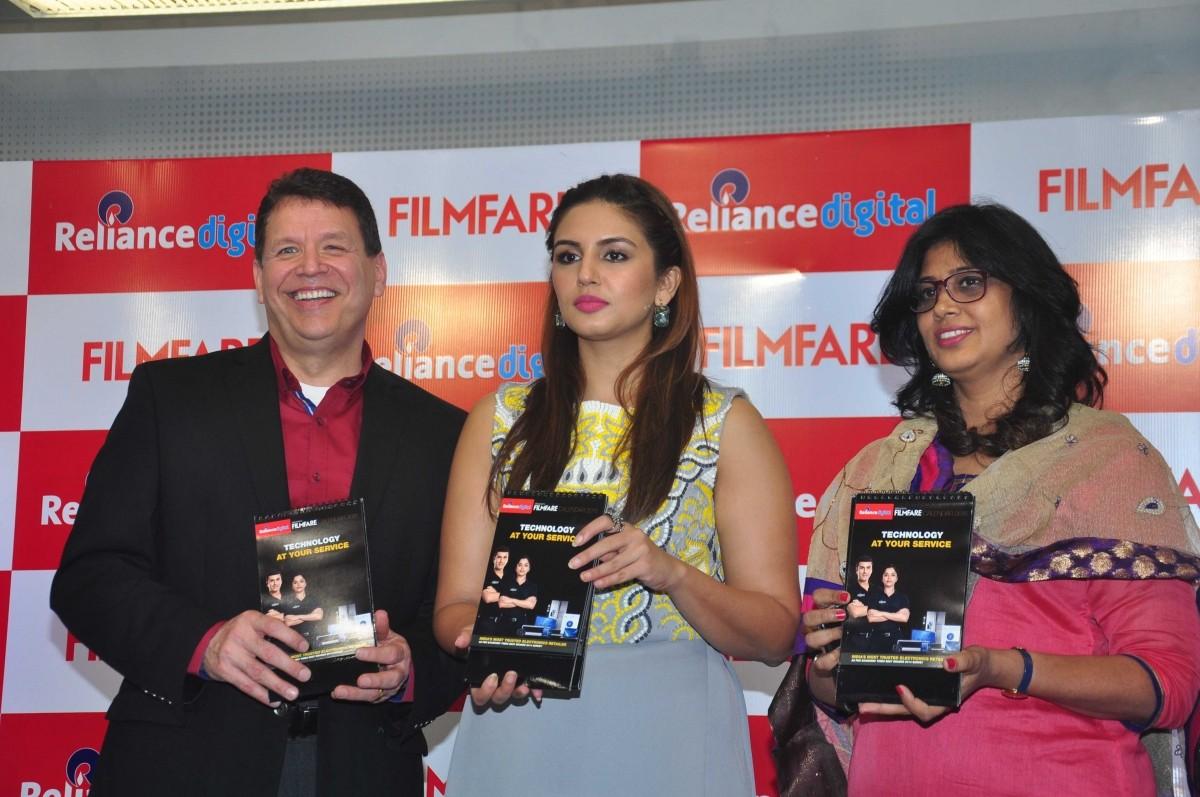 Huma Qureshi during the launch of Reliance Digital Filmfare Calendar 2015