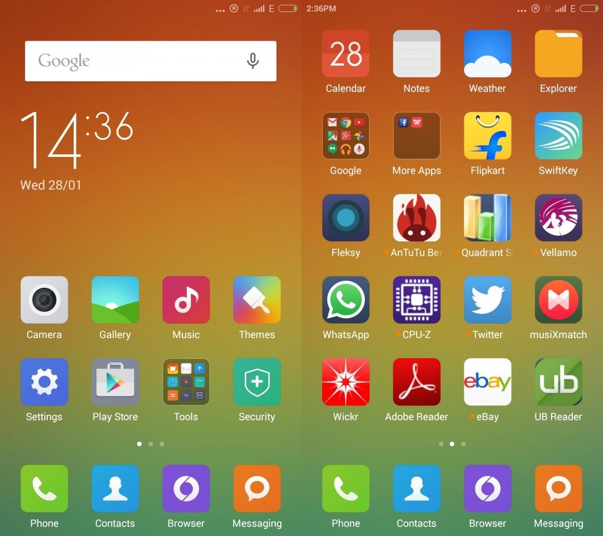Xiaomi MI4- Interface