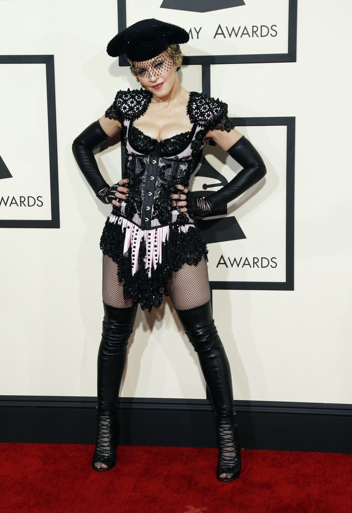 Madonna at Grammy Awards 2015.