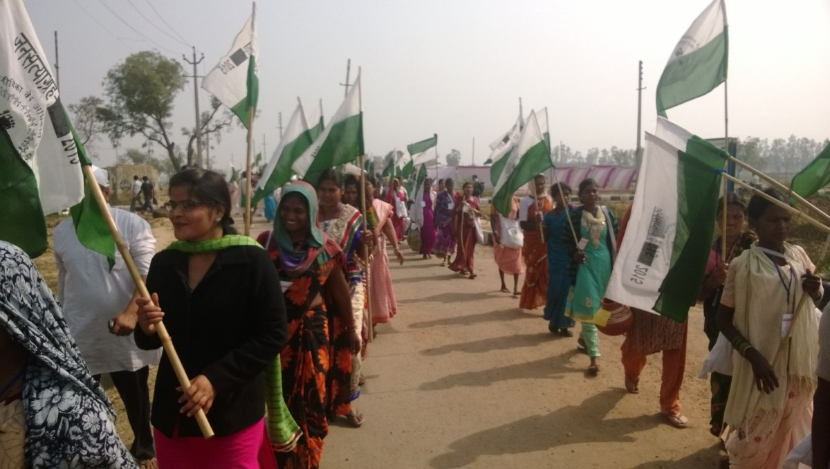 Protesters March against the Land Acquisition Ordinance