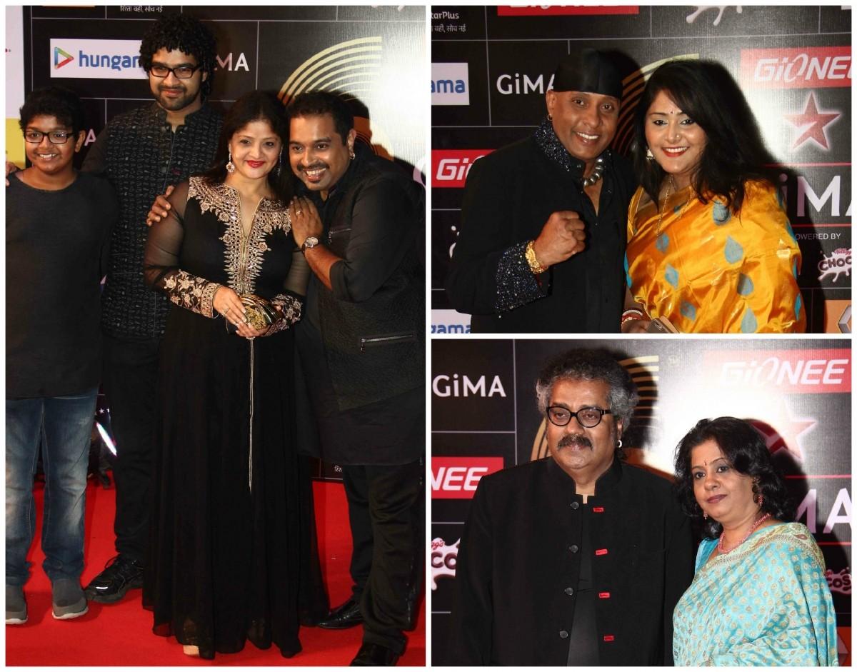 Shankar Mahadevan, Shivamani and Hariharan with their family members