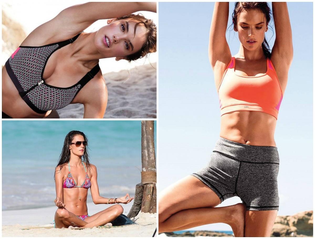 Alessandra Ambrosio yoga