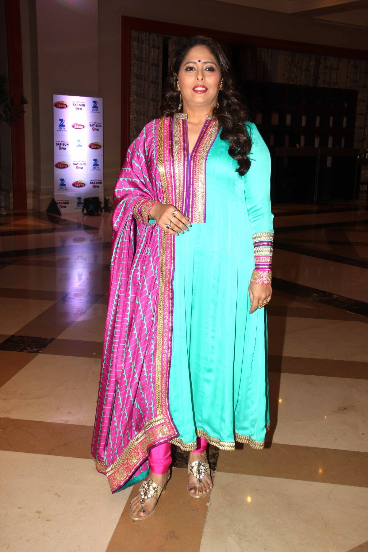 Geeta Kapur during the launch of Zee TV new reality show 'Dance India Dance Super Mom'