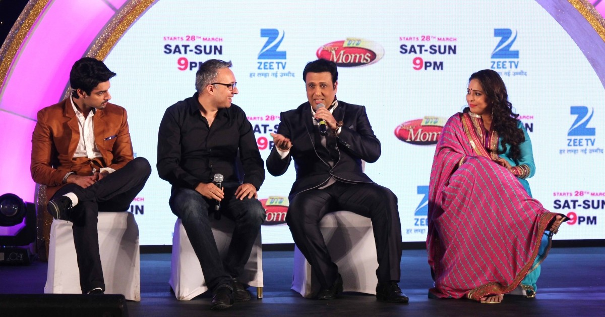 Govinda, Geeta Kapur and others during the launch of Zee TV new reality show 'Dance India Dance Super Mom'