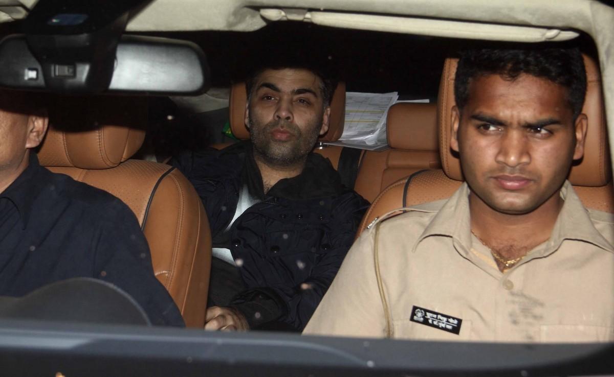 Karan Johar attends 'Bombay Velvet' trailer launch success party