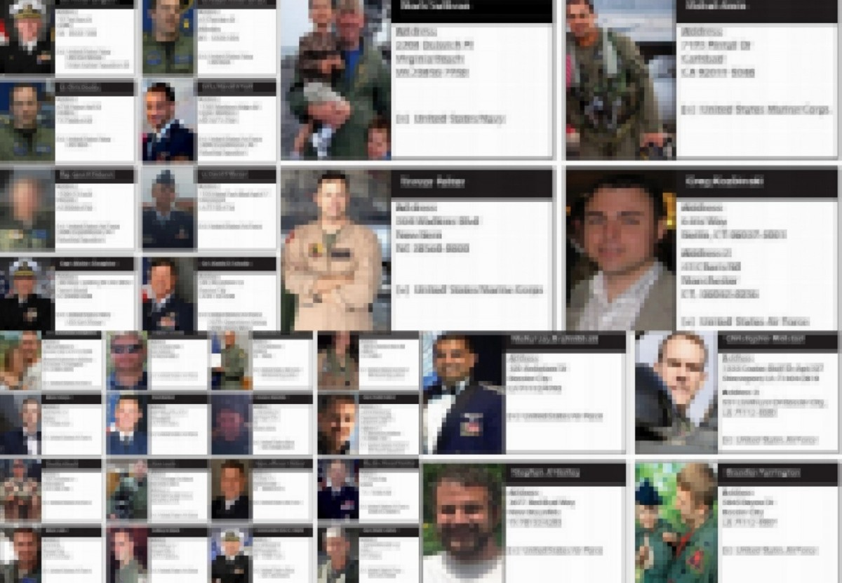 The leaked dossiers contains the name,rank and address of US army personnel along with their headshot.