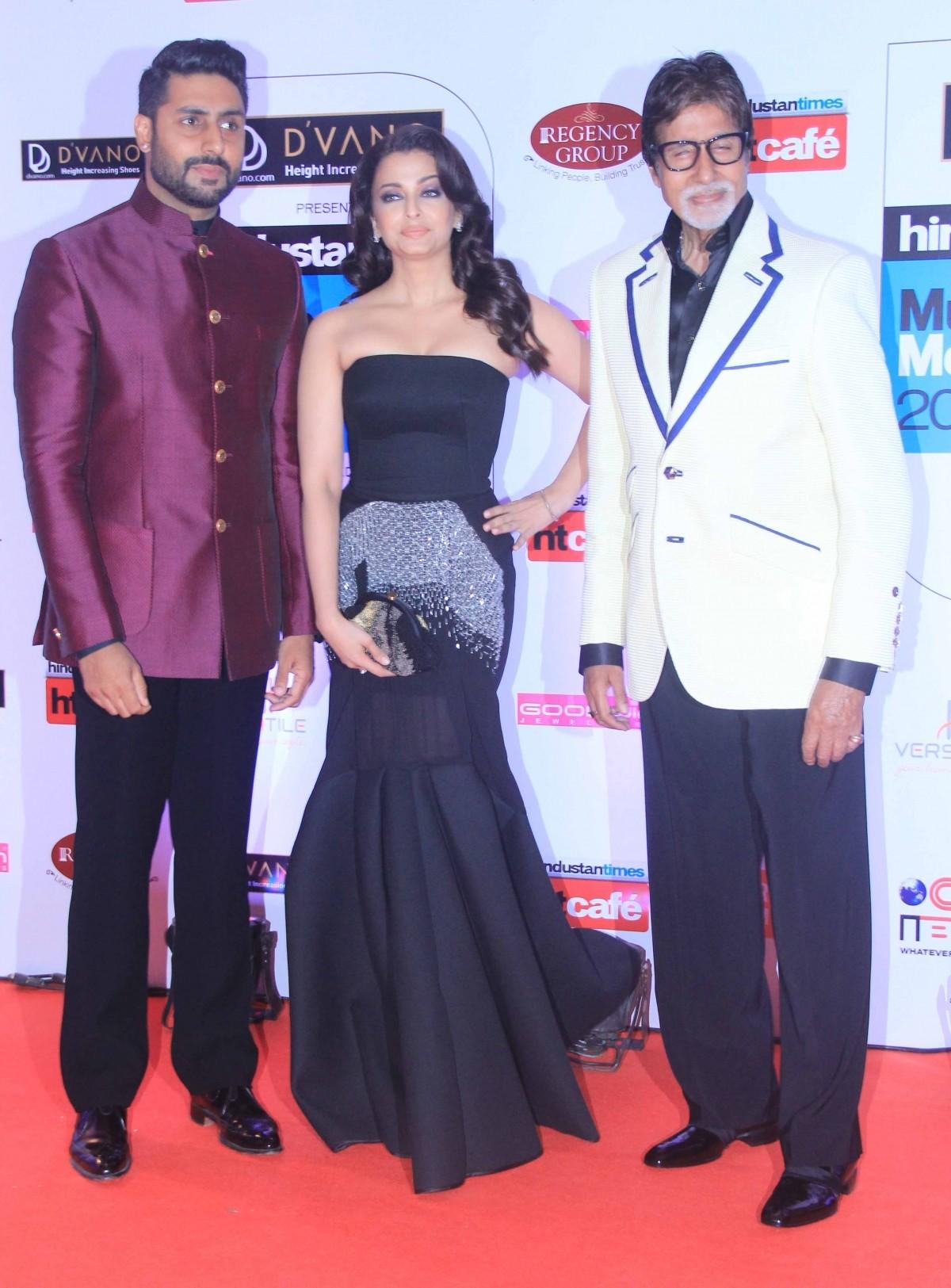 Aishwarya Rai Bachchan, Abhishek Bachchan and Amitabh Bachchan