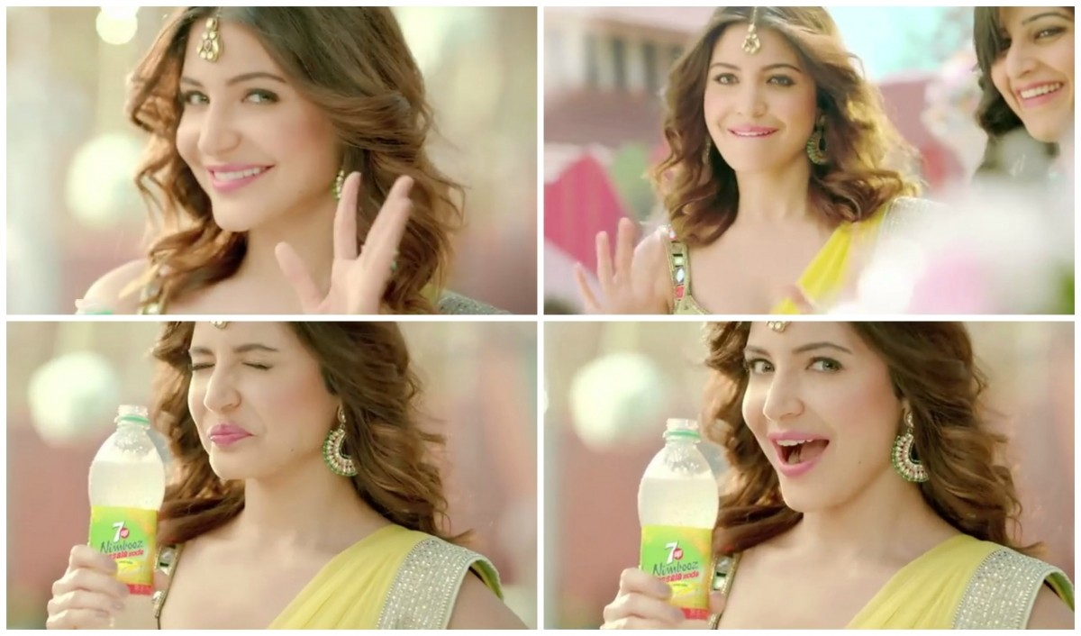 Anushka Sharma in 7UP advertisement