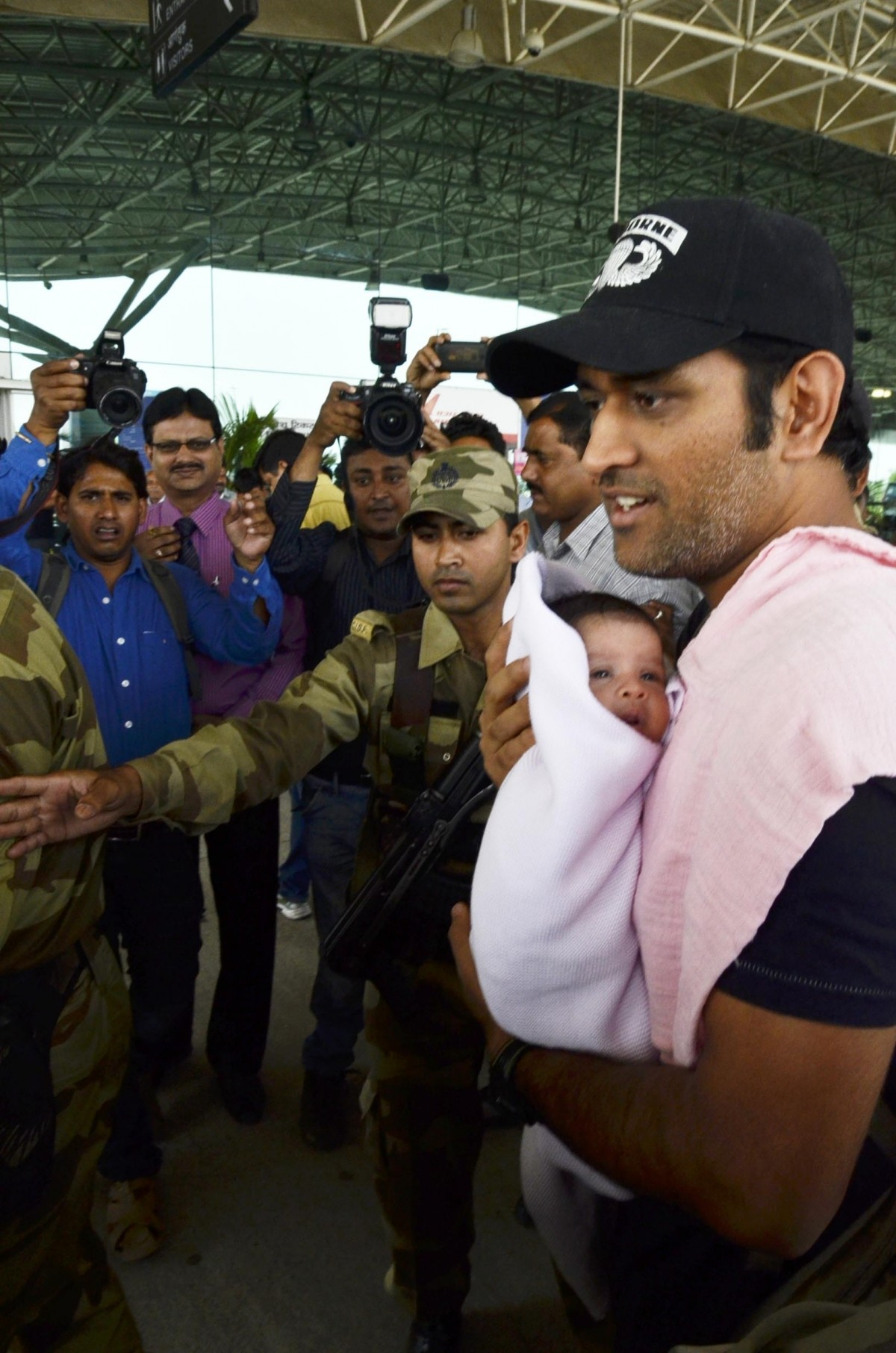 MS Dhoni's daughter