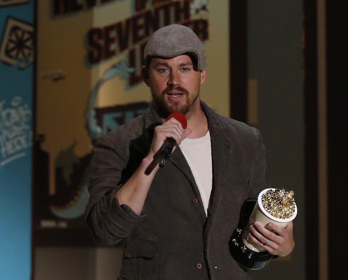 Channing Tatum accepts Best Male Performance Award