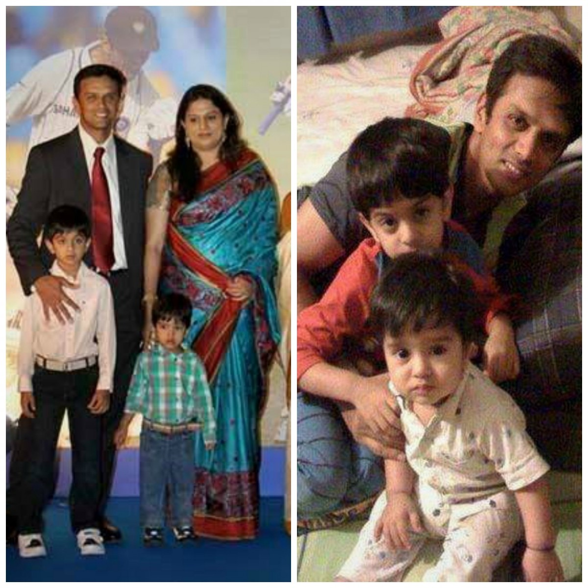 Rahul Dravid with family