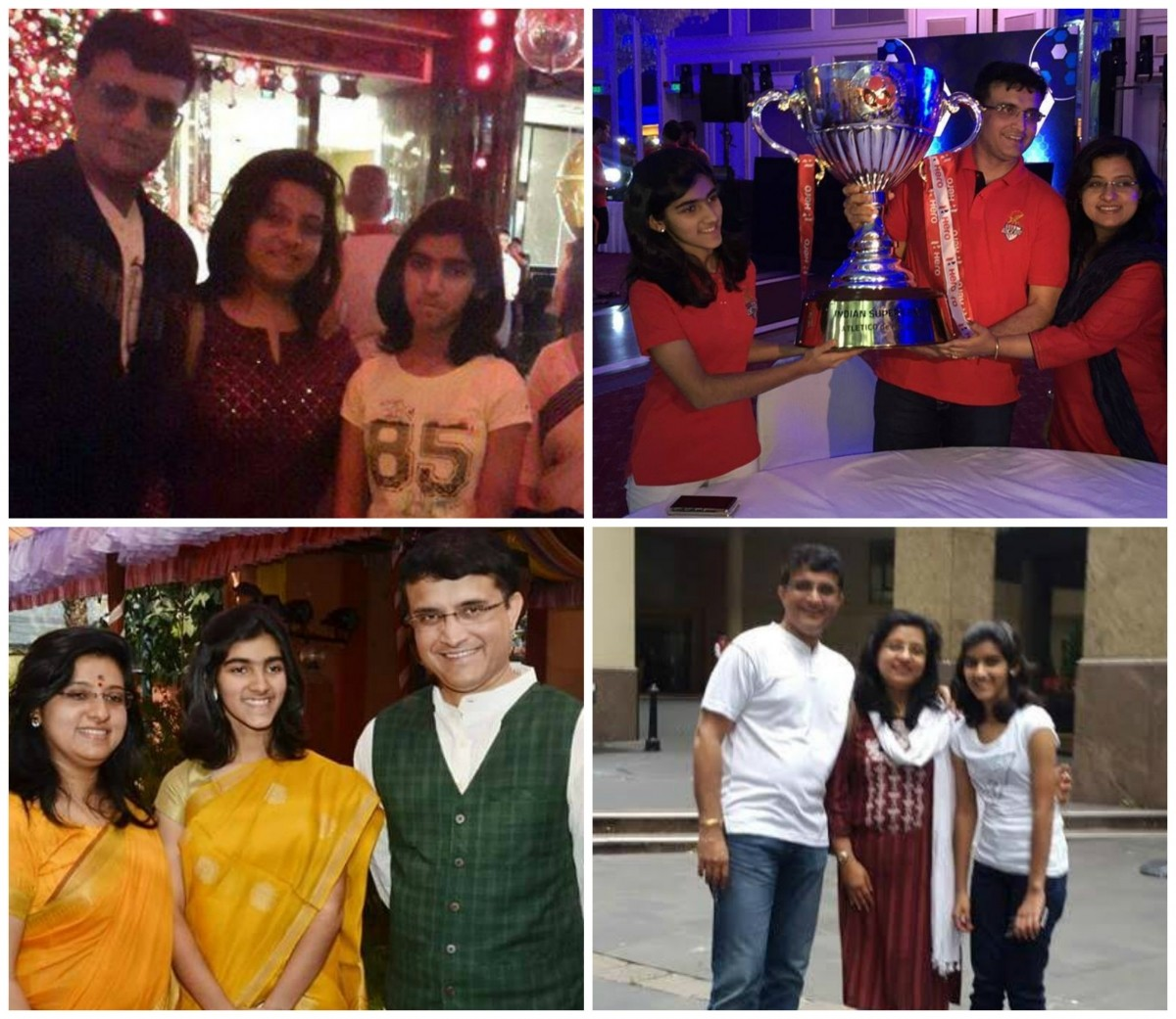 Saurav Ganguly and family