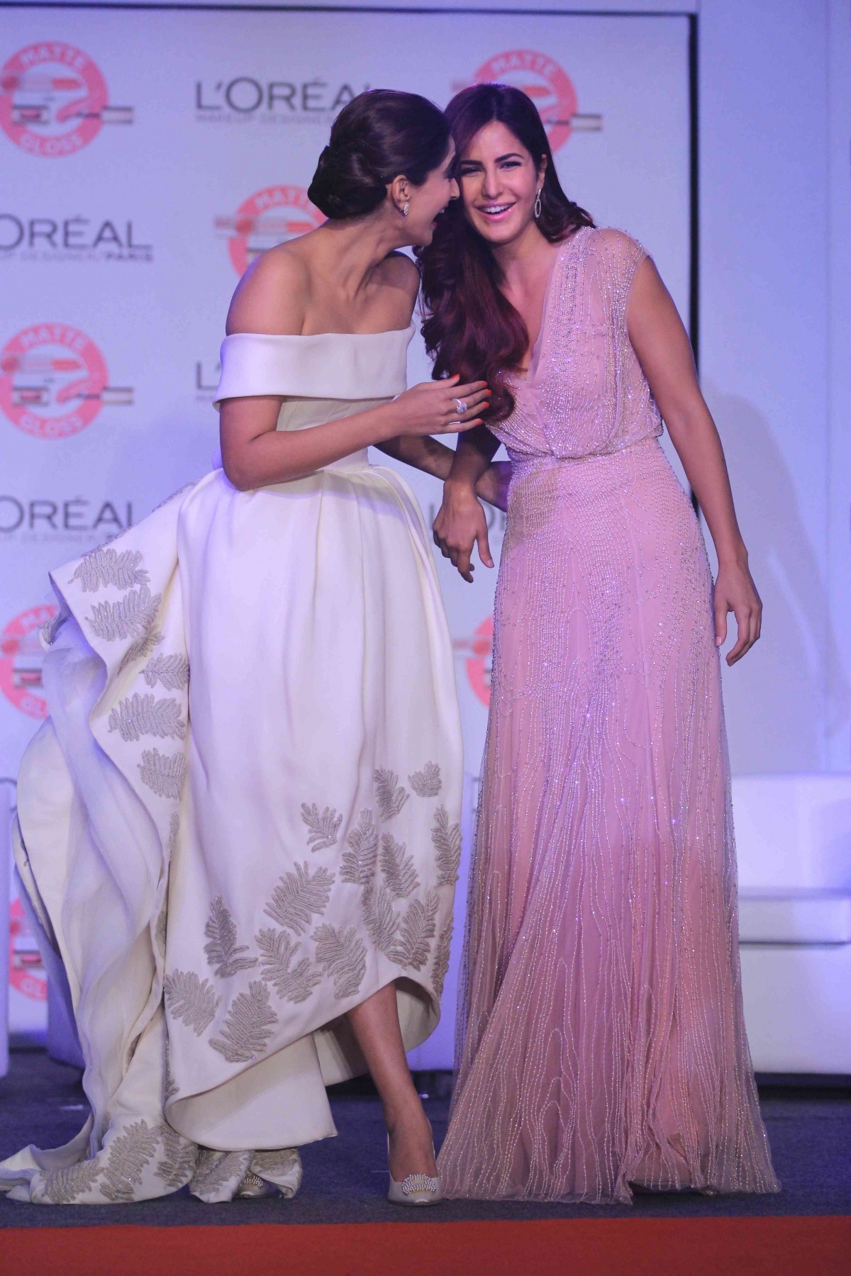 Sonam Kapoor, Katrina Kaif Share Hugs and Kisses At Cannes Festival