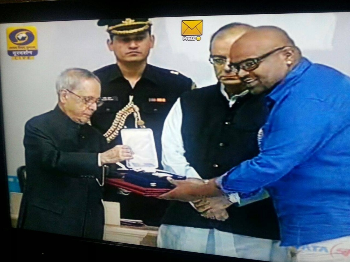 Sidhartha Siva receiving National Film Awards 2015