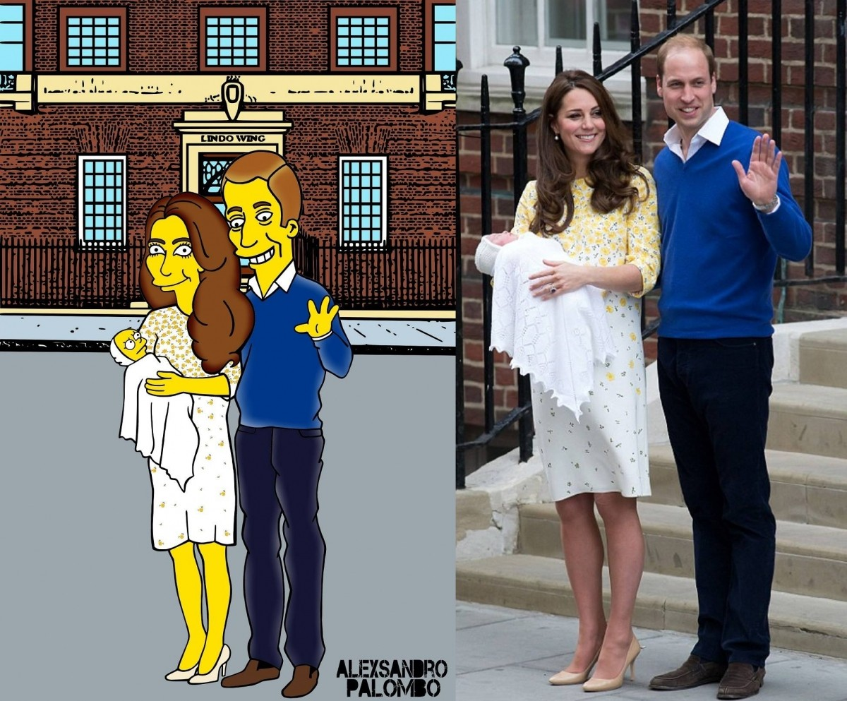 Kate Middleton and Prince William with their daughter Charlotte Elizabeth Diana