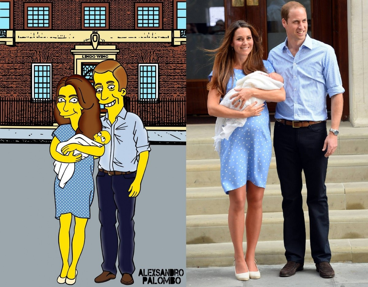 Kate Middleton and Prince William with their son Prince George