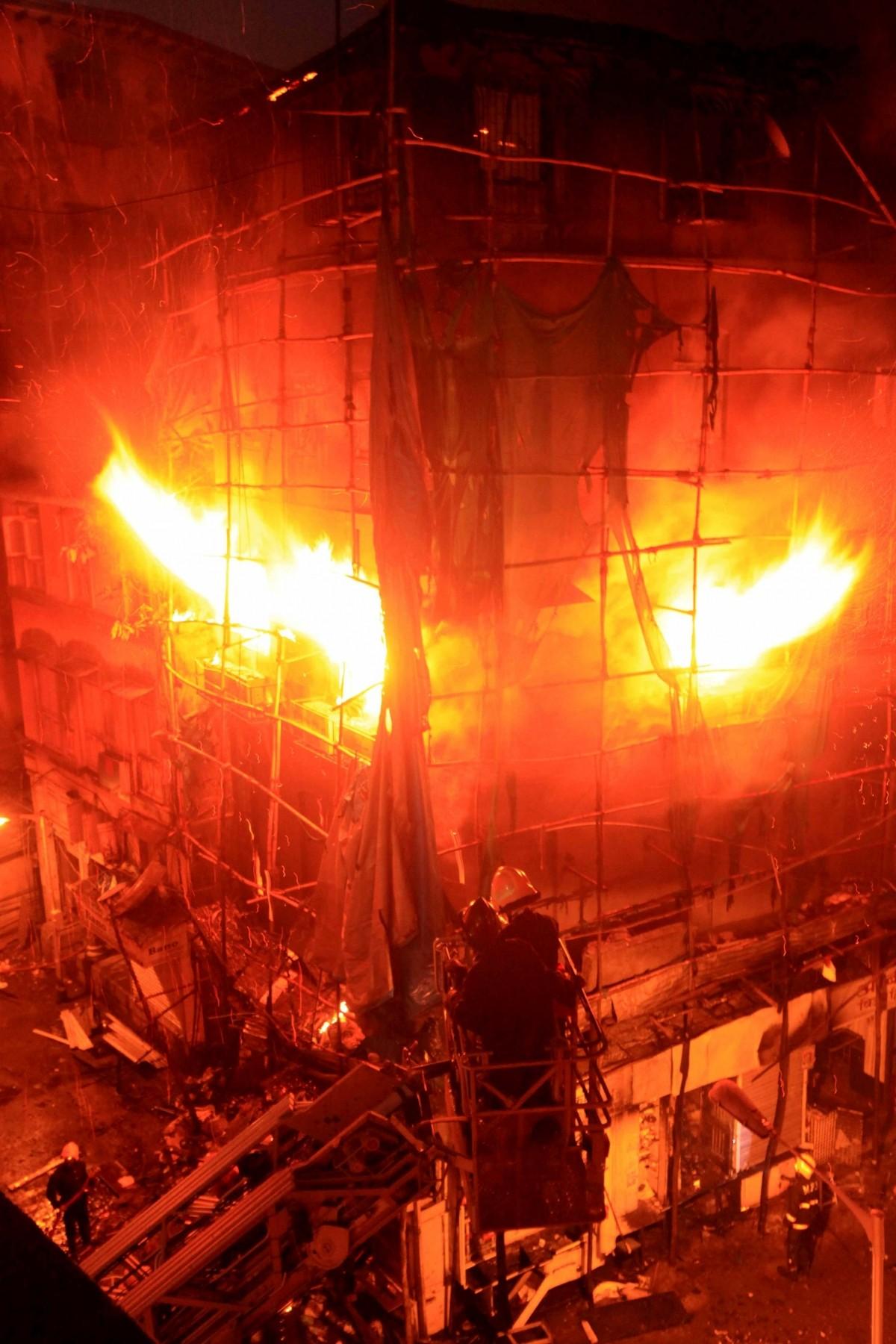 fire in mumbai building