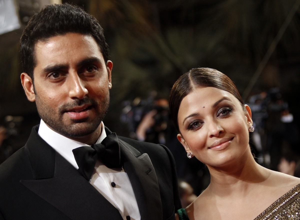 Aishwarya Rai Bachchan and Abhishek Bachchan at Cannes