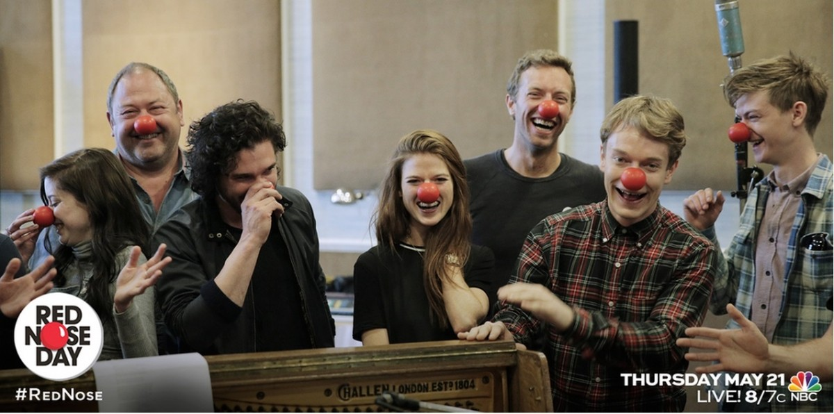 Cast of Game of Throne on Red Nose Day