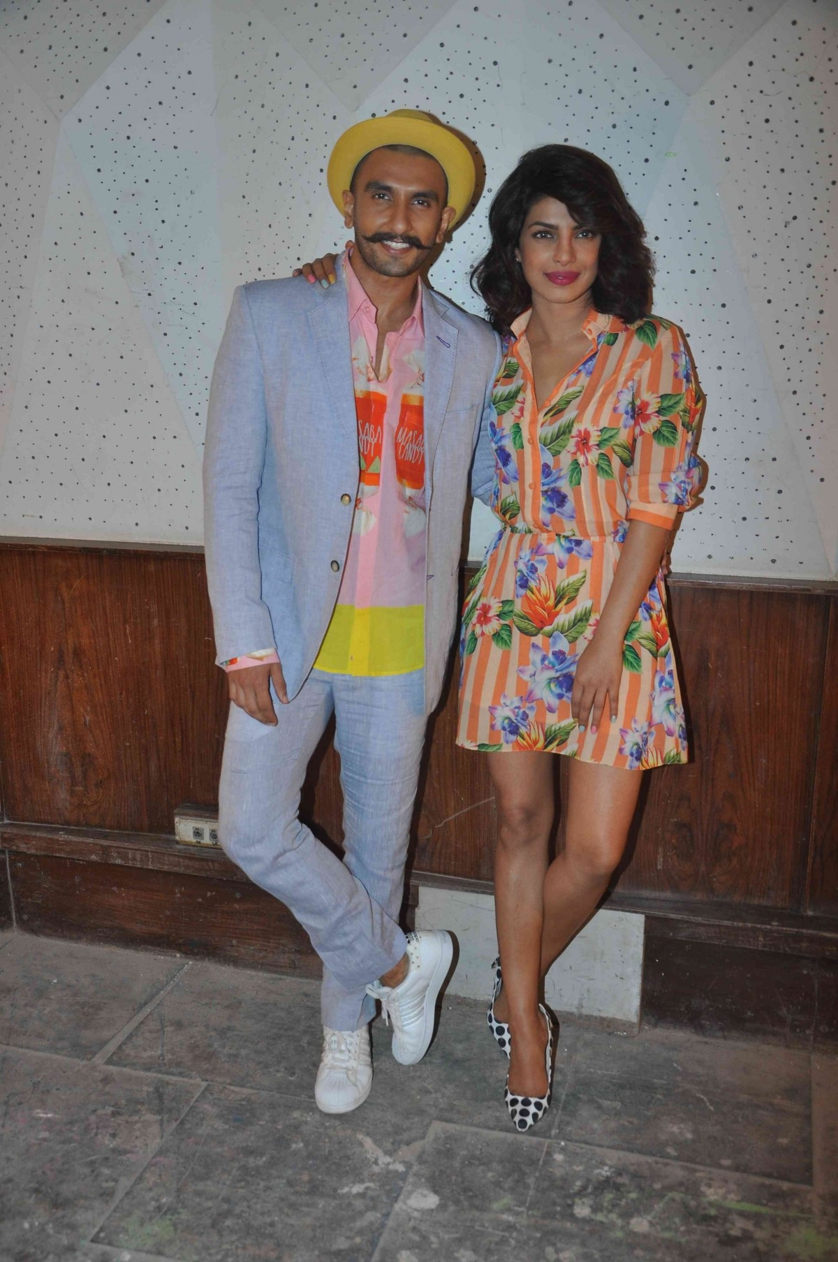 Ranveer Singh and Priyanka Chopra during 'Dil Dhadakne Do' press meet