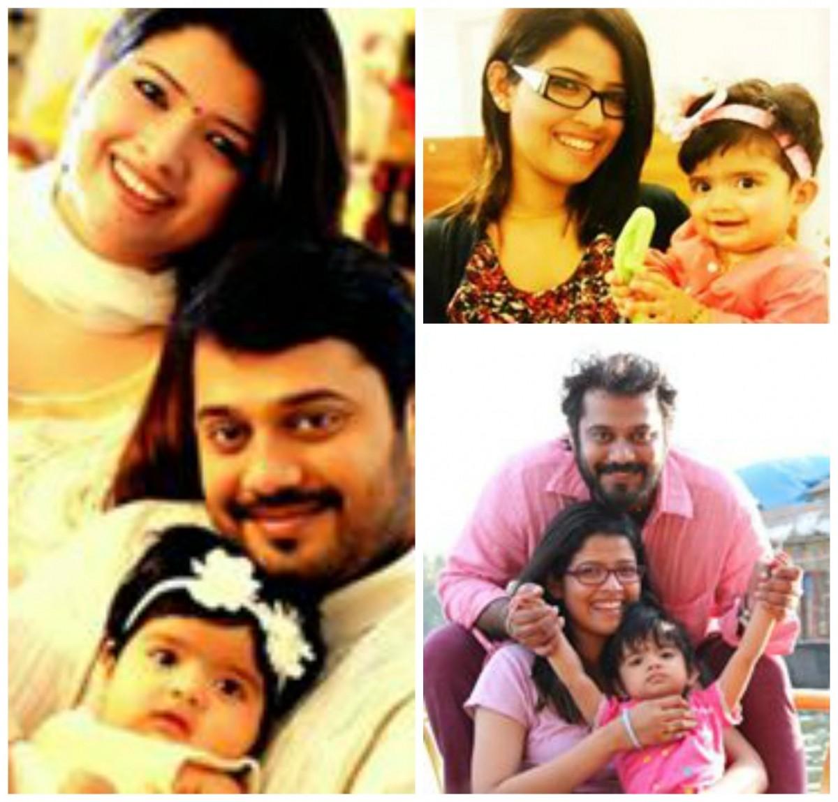 Bala and Amrutha Suresh with their daughter Avantika Kumar