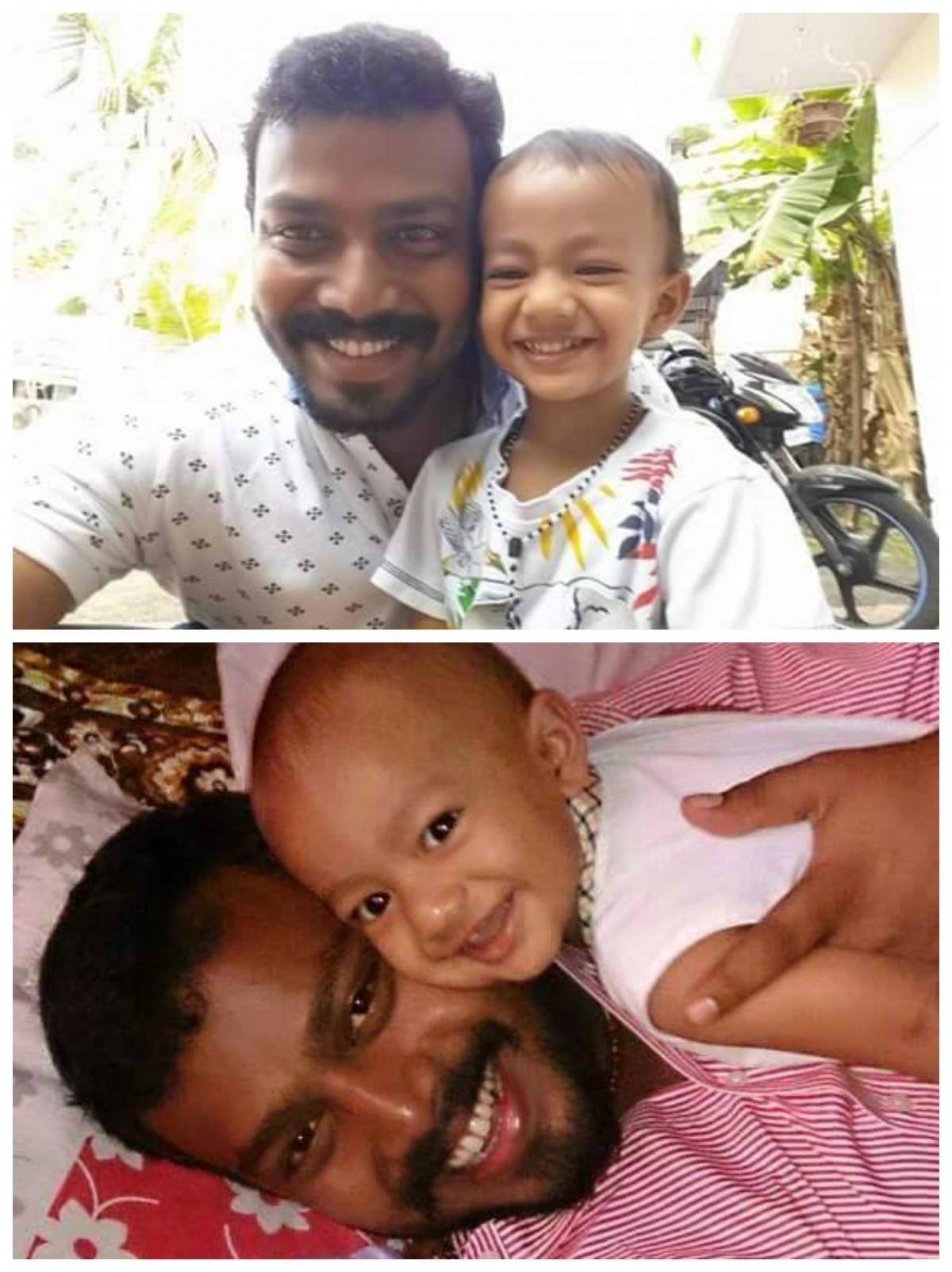 Bhagath Manuel with son Steve Bhagath