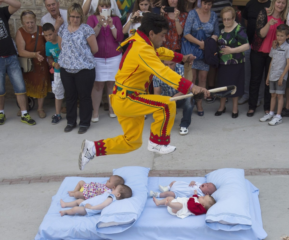 Spain Baby Jumping Festival