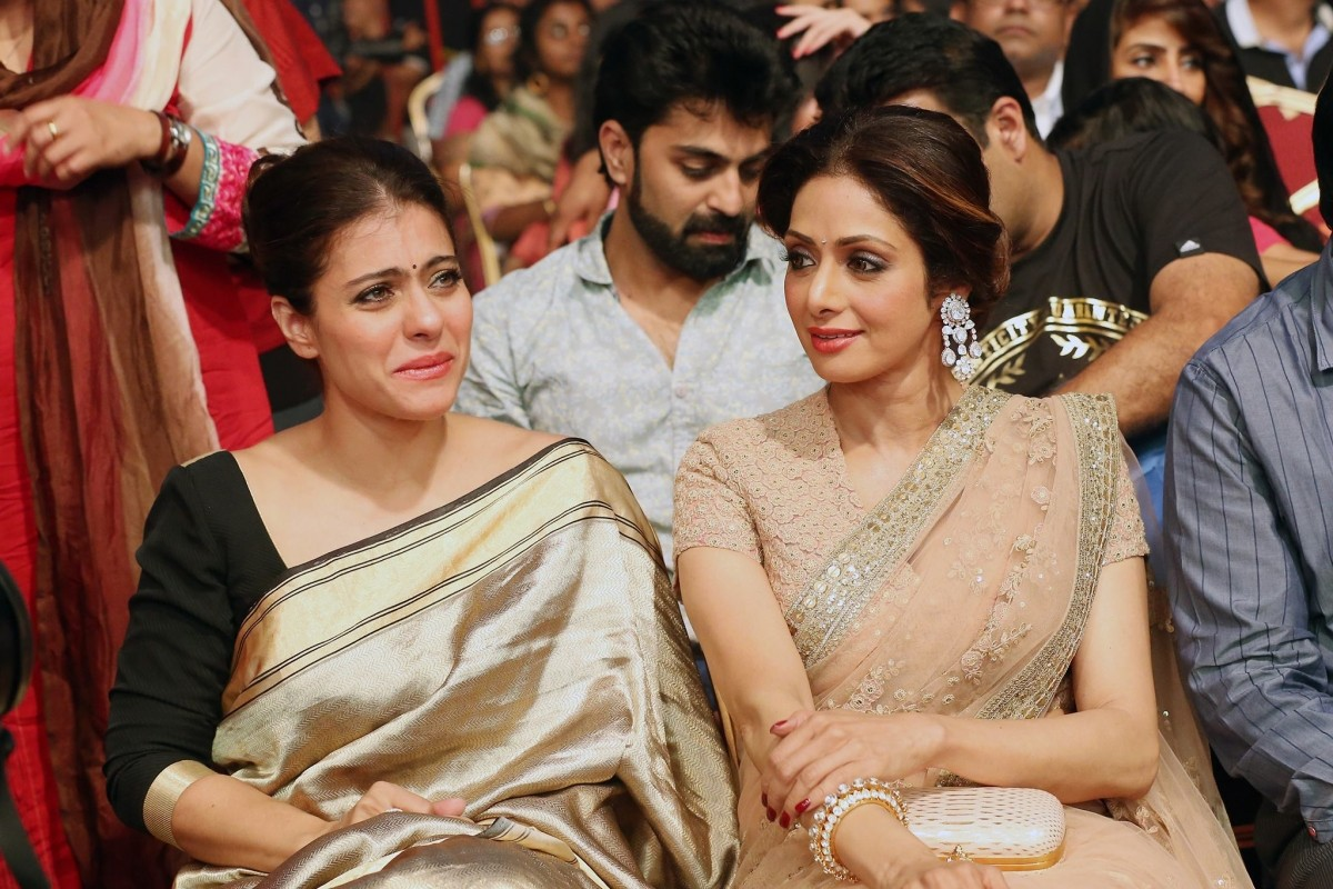 Kajol and Sridevi at Asiavision TV awards 2015