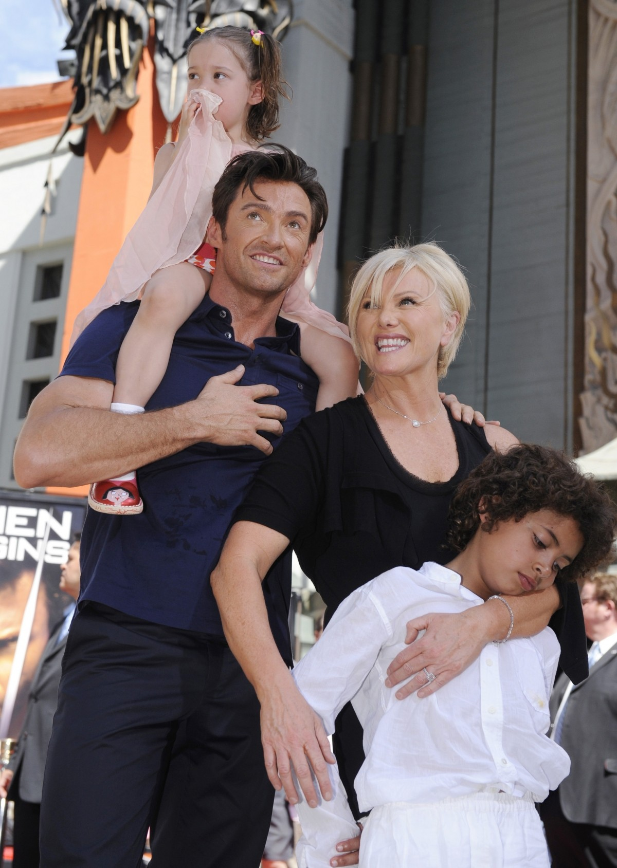 Hugh Jackman with family