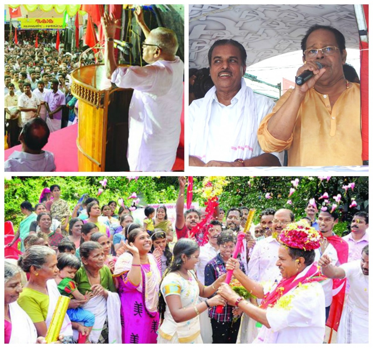 Election campaign by LDF party in Aruvikkara