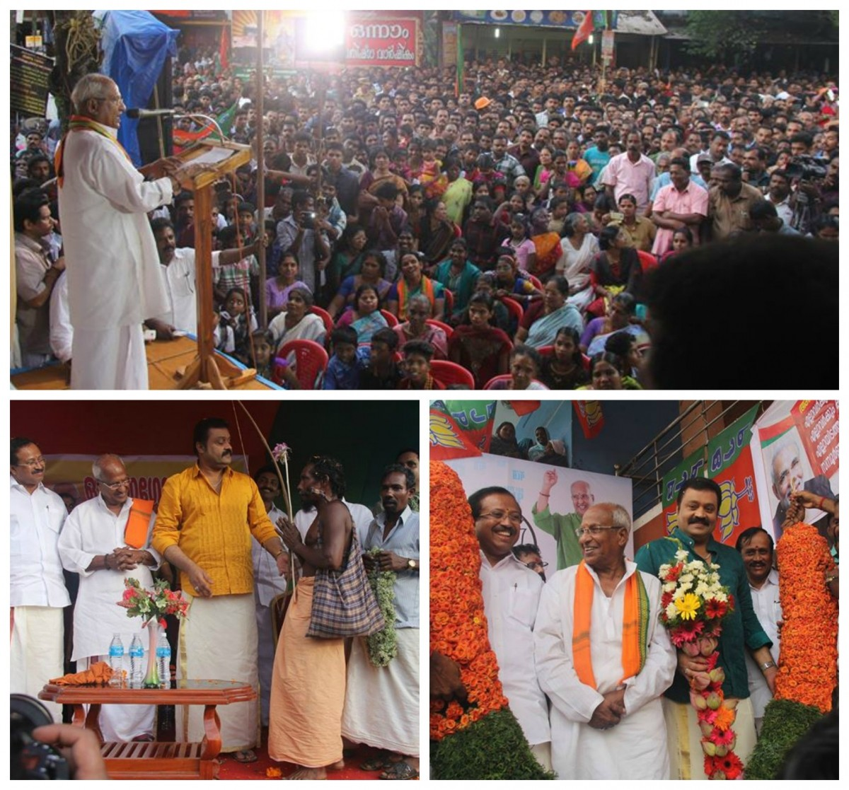 Election campaign by BJP party in Aruvikkara