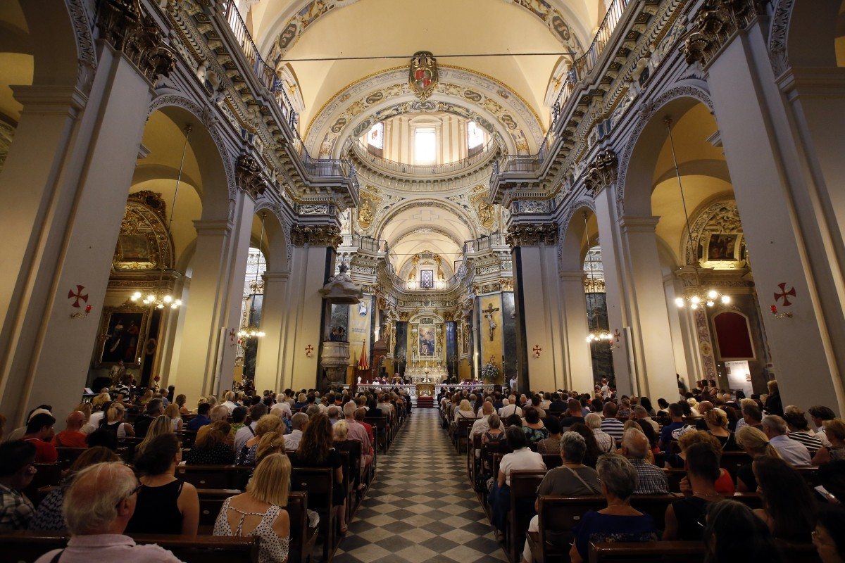 People attend a mass at the Nice Cathedral in Nice, France, July 15, 2016.