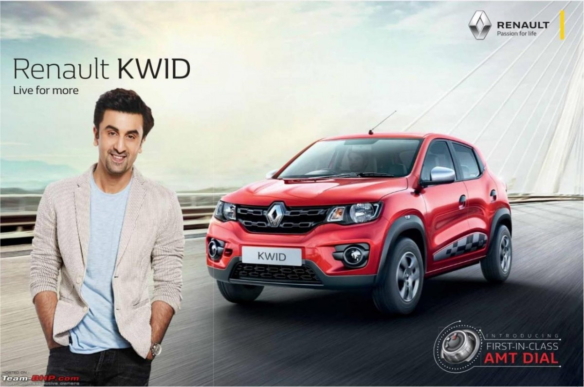 Renault Kwid AMT official brochures