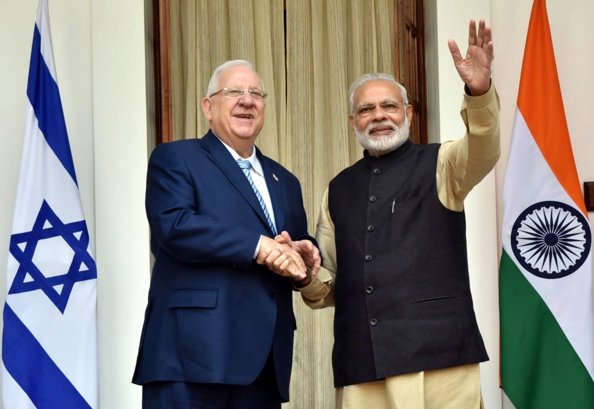 israel india defence ties iai iaf army indian president visit rivlin modi mukherjee taj agra