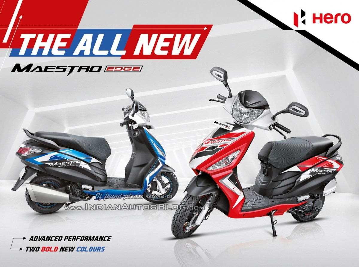 2017 Hero Maestro Edge to be launched soon; retuned engine and new ...
