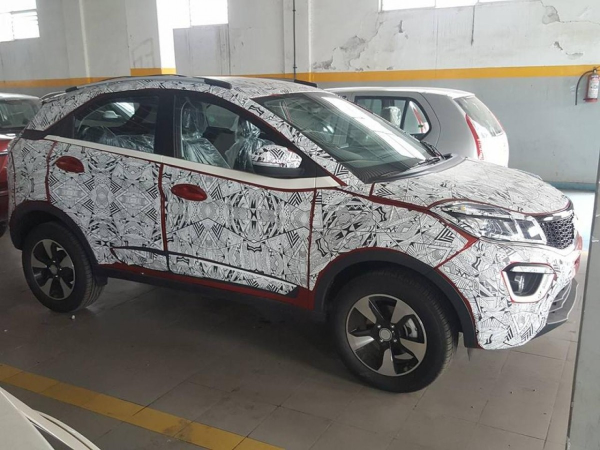 Tata Nexon India Launch In August Spied In Red Colour