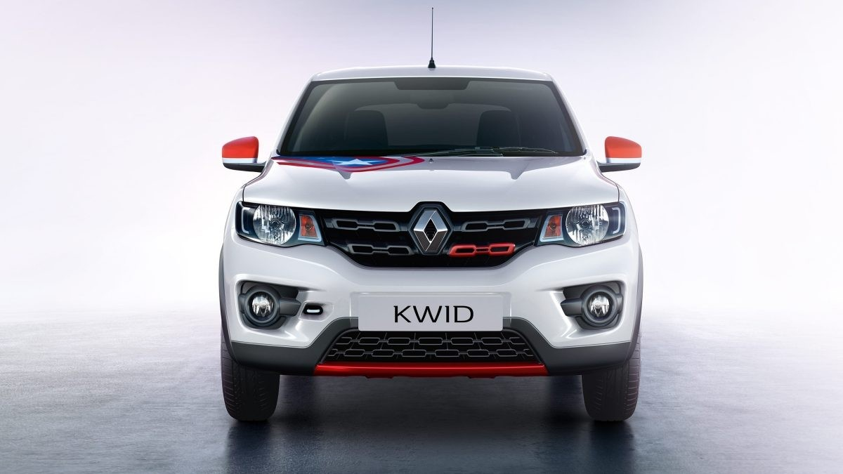 Renault Kwid Super Hero edition with Captain America theme